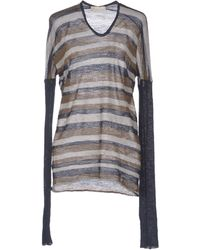 Alysi Striped Wool-Blend Jumper - Lyst