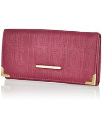 River Island Dark Red Ri Embossed Purse - Lyst
