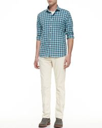 Billy Reid Ashland Fivepocket Jeans Ivorybone - Lyst