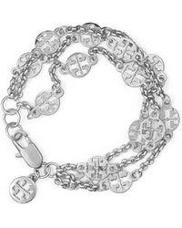 Tory Burch Multi-Strand Logo Bracelet - Lyst