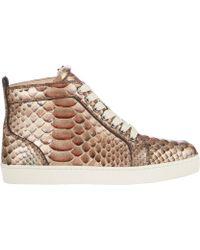 Christian Louboutin Python Rantus Orlanto Sneakers - Lyst