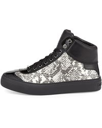 Jimmy Choo Argyle Mens Snakeembossed Hightop Sneaker - Lyst