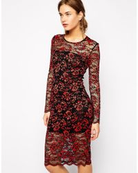 Ganni Dress In Lace - Lyst