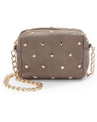 Deux Lux Studded Faux Leather Crossbody - Lyst