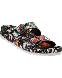 Ash Up Slide Sandal Floral Leather - Lyst