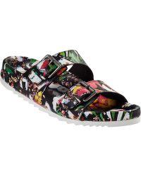 Ash Up Slide Sandal Floral Leather floral - Lyst