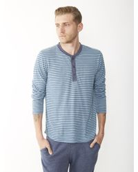 Alternative Apparel Eco Jersey Striped Henley Shirt - Lyst