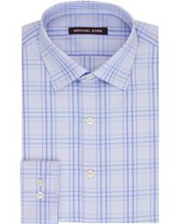 Kors By Michael Kors Regular Fit Check Dress Shirt - Lyst