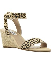 Steve Madden Natalia Two-Part Pony Wedge Sandals - Lyst
