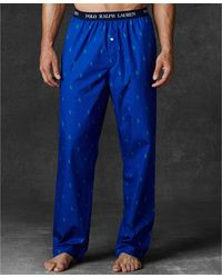 Polo Ralph Lauren Mens Allover Polo Player Woven Pajama Pants - Lyst
