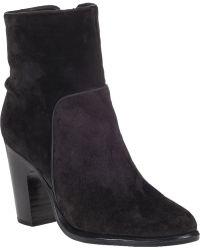 Rag & Bone Grayson Ankle Boot Asphalt Suede black - Lyst