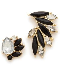 Adia Kibur Mohawk Earrings Black Multi - Lyst