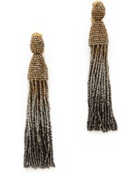 Oscar de la Renta Ombre Tassel Earrings Gold Multi - Lyst
