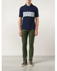 Band of Outsiders Contrasting Chest Panel Polo - Lyst