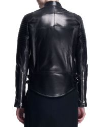 Givenchy Wool/Leather Long Moto Coat - Lyst