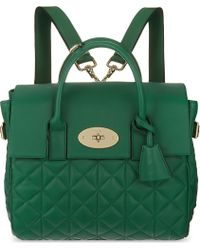 Mulberry Quilted Leather Shoulder Bag - Lyst