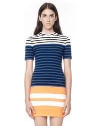 Alexander Wang Engineered Stripe Dress - Lyst