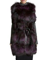 Gorski - Belted Fox-Fur Vest - Lyst