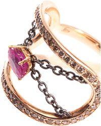 Nikos Koulis - Diamond, Ruby & Gold Ring - Lyst