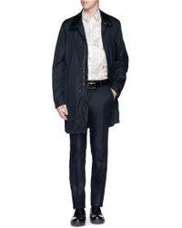 Paul Smith Banded Collar Nylon Raincoat - Lyst