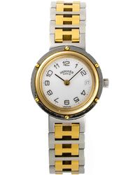 Hermès HermãˆS Two-Tone Clipper Watch silver - Lyst