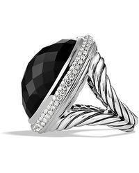 David Yurman Signature Oval Ring With Diamonds - Lyst