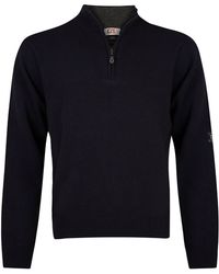 Cutter & Buck - Zip Neck Superwool Jumper - Lyst