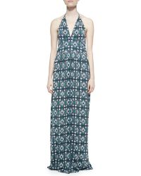 Tory Burch Laguna Printed Halter Maxi Dress - Lyst