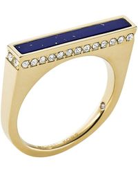 Michael Kors Lapis Bar Ring blue - Lyst