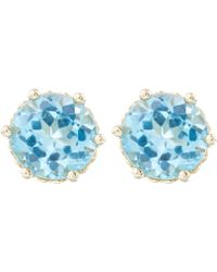 Anna Sheffield - Gold Hazeline Stud Earrings - Lyst