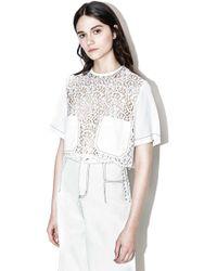 3.1 Phillip Lim - Pieced Lace T-shirt - Lyst
