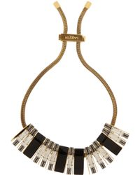 Lanvin Victoria Goldtone Swarovski Crystal and Resin Necklace - Lyst