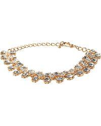 Dune - Jolie Diamante Trim Rose Gold Metallic Bracelet - For Women - Lyst