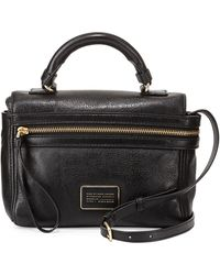 Marc By Marc Jacobs Third Rail Leather Crossbody Bag Black - Lyst