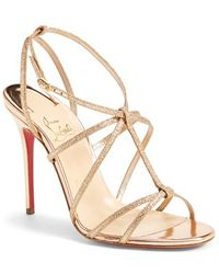Christian Louboutin 'Youpiyou' Metallic Leather Sandal - Lyst