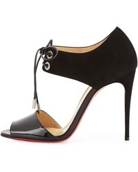 Christian Louboutin Mayerling Lace-Up Red Sole Sandal - Lyst