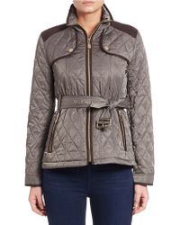 Vince Camuto - Quilted Zip-front Jacket - Lyst