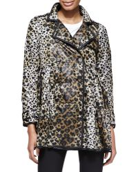 RED Valentino Skirted Heart Leopard Print Anorak Jacket - Lyst