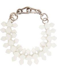 Moxham - Kline White Adjustable Laser-cut Necklace - Lyst