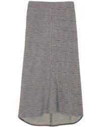 Tibi Ivory Multi Chadwick Knit Skirt - Lyst