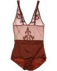 Golden Goose Deluxe Brand Brown Bodysuit - Lyst