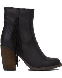 Akira Black Label | Side Fringe Ankle Boots | Lyst