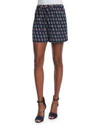 Diane von Furstenberg | Kyle Silk Zen Flora Drawstring Shorts | Lyst