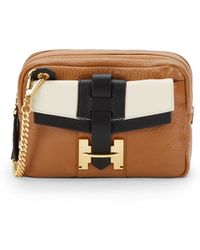 Halston Heritage Colorblock Leather Crossbody Bag - Lyst