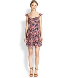 Joie Edelfina Poppy-Print Dress - Lyst