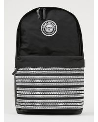 Topman Black Frat Branded Backpack - Lyst