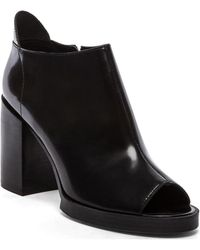 Cheap Monday - Layer Peep Toe Bootie - Lyst