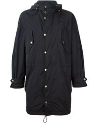 DSquared2 Blue Hooded Parka - Lyst