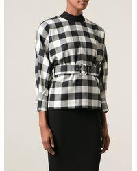MSGM Black Belted Shirt - Lyst