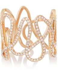 Repossi - White Noise 18-Karat Rose Gold Diamond Ring - Lyst